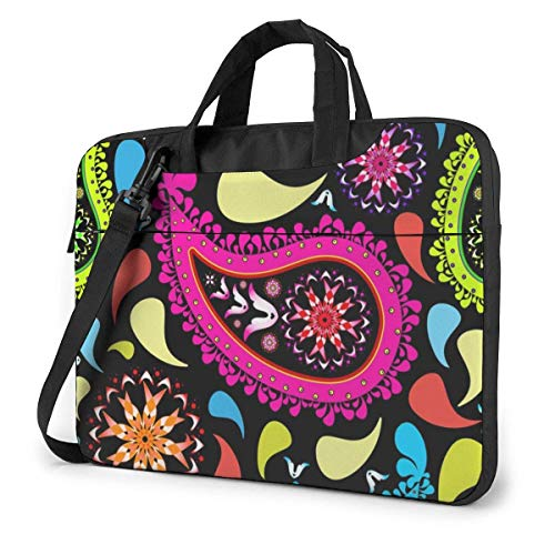 XCNGG Colorful Ethnic Feather Laptop Bag Shockproof Briefcase Tablet Carry Handbag for Business Trip Office 15.6 inch