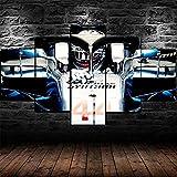 QMCVCDD 5 Leinwand Druck Kunst Poster Lewis Hamilton F1
