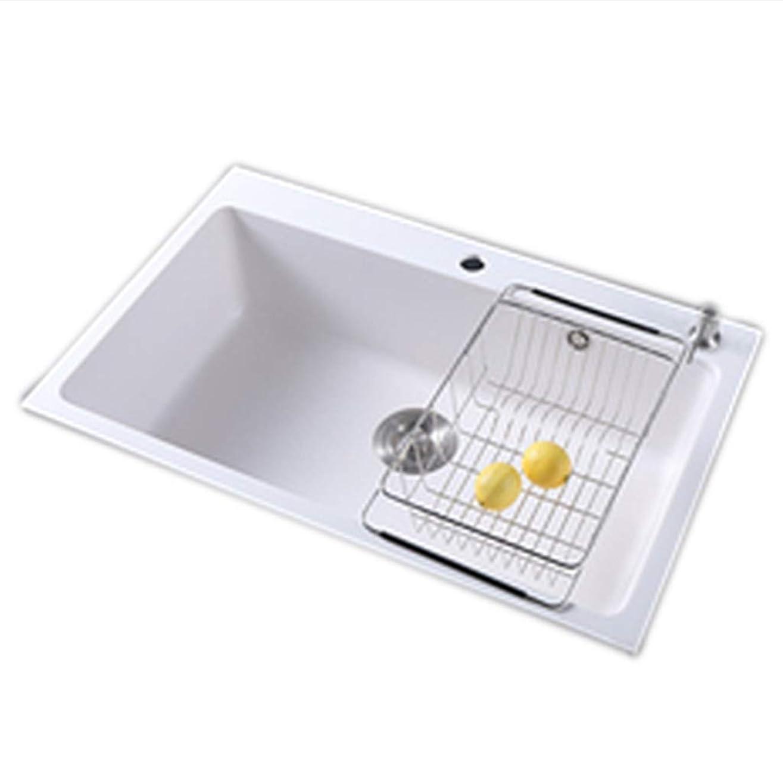 同行するグリーンランドストライドキッチン用設備 台所の流し台 改修用流し台 家庭用白い流し台 フルーツの掃除用プール 野菜の流し台 洗面台 バスルームブラッシングプール (Color : 白, Size : 72cm)