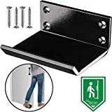 Foot Door Opener - 1 Piece Commercial Hands Free Step and Pull Opener - Sanitary and Germ Free Bathroom, Restroom Restaurant - Large Foot Pedal, Steel