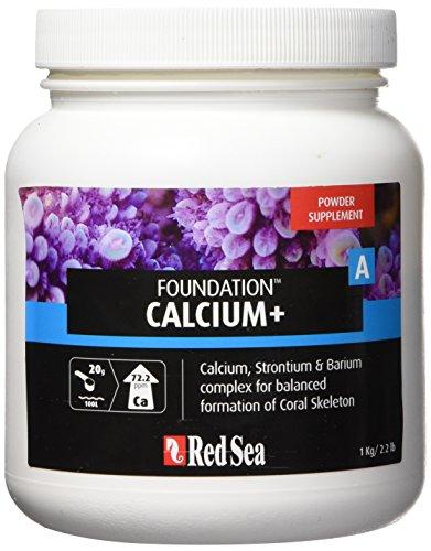 Red Sea Fish Pharm ARE22017 Reef Foundation Calcium/Strontium Supplement-A for Aquarium, 1kg
