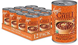 Amys Organic Chili sauce - Medium with Vegetables ingredients
