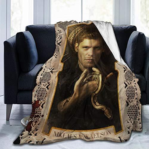 GEHIYPA The Vamp-ire Dia-ries Flanell-Überwurf, Decke, ultraweiche Tagesdecke, Mikrofaser, langlebig, Heimdekoration, perfekt für Couch, Bett, 152,4 x 127 cm