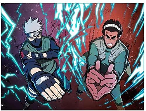COVERLETWARM Dipingi Fai da Te con I Numeri Hokage Ninja Large Anime Artwork Uchiha Madara Sasuke Akatsuki Pain Digital Art Prints B 40X50Mm (with Frames)