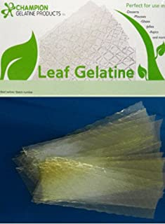Gelatine Gold Leaf by Champion, 20 sheets