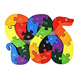 SimpleLife Alphabet Jigsaw Puzzle Bloques de construcción Animal Puzzle de Madera, números del Alfabeto Niños Que aprenden Bloques educativos Juguetes para niños Niños pequeños Niños Niñas