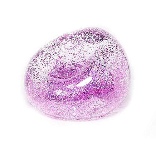 Silla mgwa Comprar inflable oro holográfica silla Glitter transparente habitaciones Claro perfecto for los niños, salas de juegos, dormitorios, fiestas, interiores y exteriores.Fácil de configurar y a