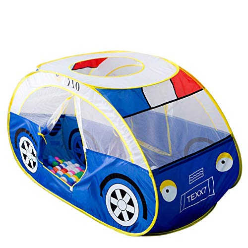 Anyshock Kids Tent, Kiddy Play Foldable Pop Up Police Car Tent Indoor Outdoor...