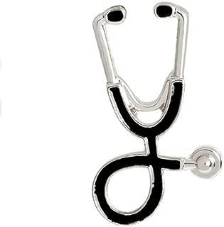 AILUOR Personality Stethoscope Brooch Pins, Fashion Cartoon Medical Doctor Nurse Enamel Lapel Pin Unisex Child Women's Clothing Decorate