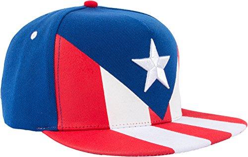Epic Puerto Rico Flag Snapback Hat | Puerto Rican Boricua Unisex Baseball Cap