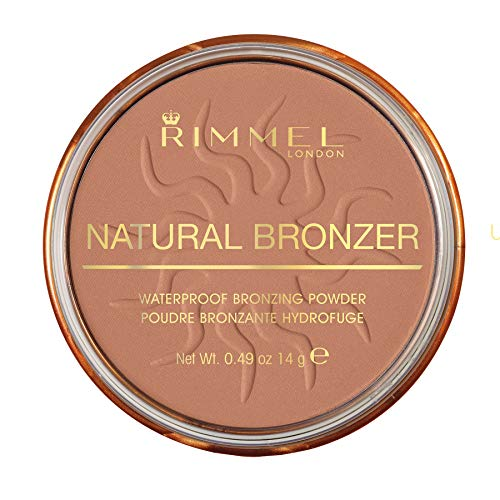 Rimmel London Natural Bronzer Terra Abbronzante Waterproof a Lunga Durata SPF 15, 021 Sun Light, 14 g