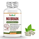 NuBrain - Enhance Cerebral Circulation, Boost Brain Health, Support Brain Functions, Enhance Concentration, Improve Memory, Sleep Aid, Enhance Cognition - for Men and Women - 60 Veggie Capsules