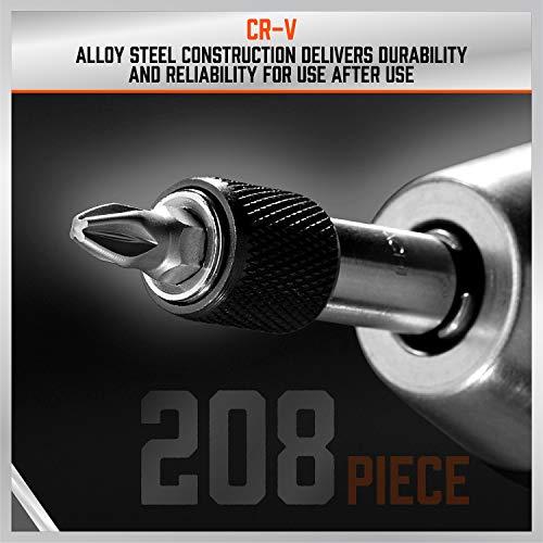 HORUSDY 208-Piece Screwdriver Bit Set, Made Chrome Vanadium Steel Security Bit