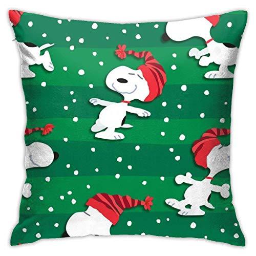 ingshihuainingxiancijies Erdnüsse Snoopy Strumpf Hut Weihnachtswurf Kissenbezüge 18'X 18' Zoll quadratische Form dekorative Kissenbezug für Couch Sofa Kissen Set