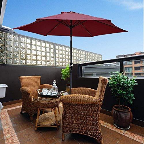 Manovella inclinabile per ombrellone da giardino 2.5m Ombrello inclinabile in alluminio Vino 6-RibParasol , Ombrellone da spiaggia , Ombrellone da giardino Ombrellone , Ombrellone