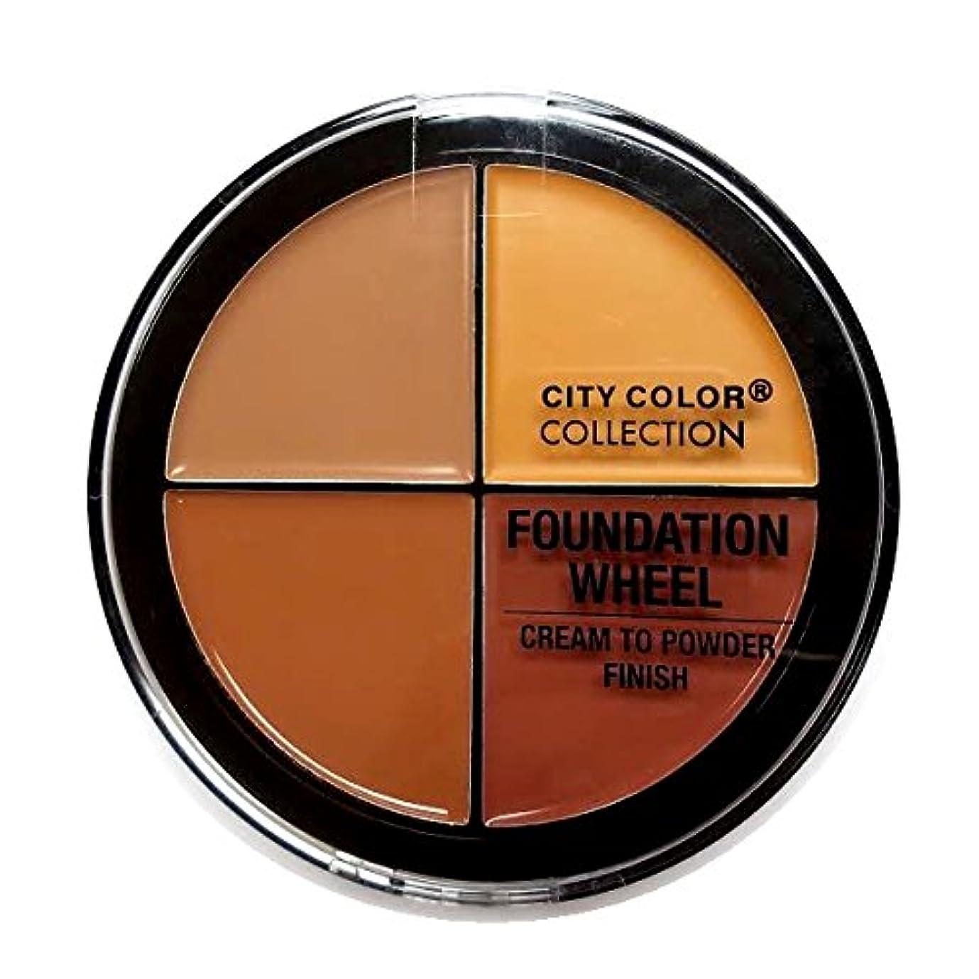 磨かれた解読する等価(3 Pack) CITY COLOR Foundation Wheel - Medium to Deep (並行輸入品)