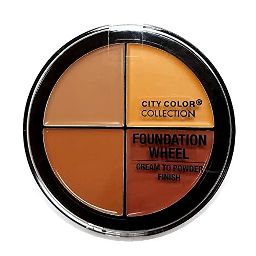 順番約脅かす(3 Pack) CITY COLOR Foundation Wheel - Medium to Deep (並行輸入品)