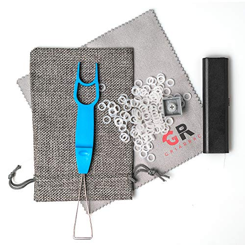 Griarrac Mechanical Keyboard O Ring Switch Dampener with Keycap Puller Remover Brush Accessory Bag, for Cherry MX Kailh Box Gateron 40A-L (150pcs)