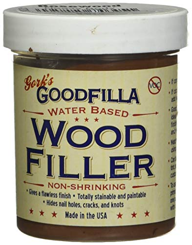 Water-Based Wood & Grain Filler - Rosewood - 8 oz by Goodfilla   Replace Every Filler & Putty   Repairs, Finishes & Patches   Paintable, Stainable, Sandable & Quick Drying