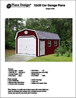 12' X 20' Barn/gambrel Shed/garage Project Plans -Design #31220