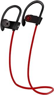 shiYsRL Wireless Bluetooth Earphones U8 Bluetooth Waterproof Sweat Proof Headset Stereo Music Earphone For Sport Running One Size Red