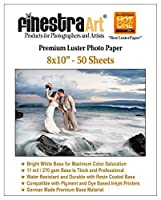 8x10 50 Sheets Premium Luster Inkjet Photo Paper [Office Product] by Finestra Art [並行輸入品]