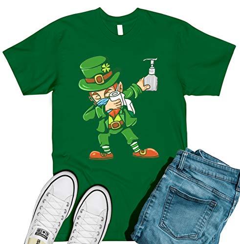 St Patricks Day Covid-19 Gifts Idea - Elf Dabbing Coronavirus Survivor T-Shirt Tee Shirts Women, Tee Shirts Mens, Unisex Long Sleeve T
