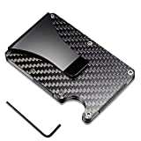Tactical Ninja Premium Slim RFID Wallet Minimalist Wallet/Carbon Fiber Credit Card Holder with Money Clip/Aluminum Front Pocket Card Case/with Protective Scan Proof Anti-Theft Technology
