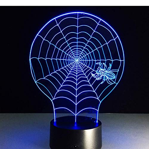Lampara 3D,Lámpara 3D Night Light Kids Toy Led 3D Touch Table Lamp 7 Colores Intermitente Led Light Christmas Hallowe Decoraciones Para El Hogar con el control remoto