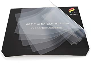 FYSETC FEP Film Sheet 200 x 140mm Thickness 0.15mm High Transmittance Strength for UV 3D Printer Wanhao D7 DLP Photon ELEGOO Mars LCD SLA Resin- 5Pcs