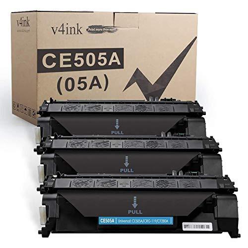 V4INK 3 Compatible Toner Cartridge Replacement for HP 05A CE505A Toner Ink Cartridge for HP Laserjet P2035 P2035n P2055dn P2055 P2055d, Pro 400 m401n m401dne m401dw MFP M425dn M425dw Printer