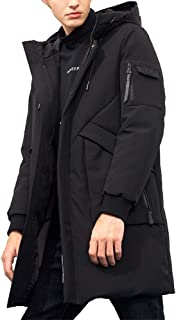 Men's Winter Coats Water-Repellent Windproof Thicken Parkas Long Hooded Padded Puffer Jacket