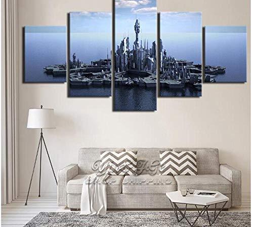 LJLSLH Hauptdekoration 5 Stücke Stargate Atlantis Tv Spielen Poster Wohnzimmer Bild Wand Kunstwerk Leinwanddrucke Kein Rahmen Größe B
