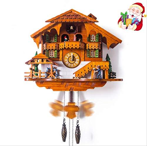 tytlclock Reloj De Pared De Cuco De Moda, Reloj De Pared De Sala De Estar Creativa, Relojes De Madera De Diseño Moderno, para Salón De Navidad