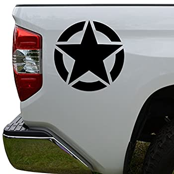 Rosie Decals US Army Military Star WWII Die Cut Vinyl Decal Sticker For Car Truck Motorcycle Window Bumper Wall Decor Size- [8 inch/20 cm] Tall Color- Gloss White