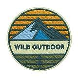 Adventure Collection: Wild Outdoor Berg, parche termoadhesivo para hacer senderismo, parches, parche para planchar, parche para hacer senderismo, mochilas Finally Home