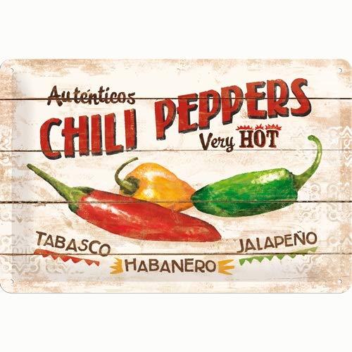 Nostalgic-Art 22186 Home & Country - Chili Peppers, Blechschild 20x30 cm