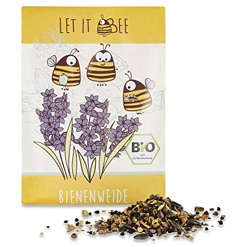 Blumensamen Bienenwiese, Blumenwiese Samen mehrjährig winterhart, Blumensamen mehrjährig: Bienenfreundliche Blumensamen Mischung ein- und mehrjährig: 35g Premium Bienen Saatgut von LET IT BEE