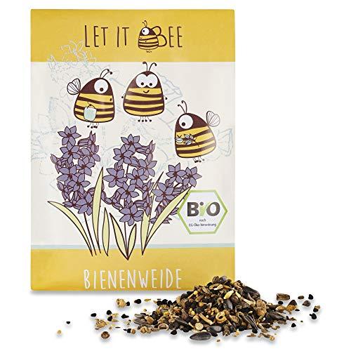 🐝LET IT BEE - bienenfreundliche Bienenweide-Mischung, 35g biologisches Saatgut für bunte Bienenwiese, ökologisch, samenfest, mehrjährig, Bienen und Hummelmagnet, Schmetterlingstreff, Bio