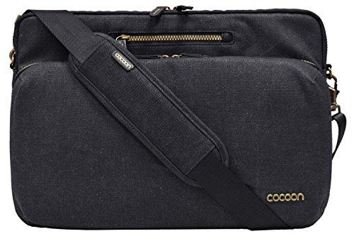 """Cocoon URBAN ADVENTURE - 16"""" Laptop Messenger Bag mit Organisationssystem / Umhängetasche für Laptops / Integrierter Handriemen / Schultertasche für Laptop / Wasserabweisend / Schwarz - 16"""" Zoll"""