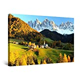 Startonight Quadro su Tela Casa In Montagna, Grandi Quadri Astratti Moderni Stampe Camere da Letto 80 x 120 cm