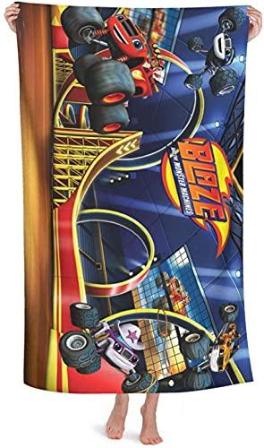 Blaze and The Monster Machines - Toalla de playa (80 x 180 cm), diseño de coche de carreras