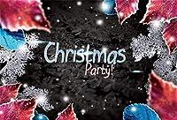 Amxxy 写真の背景のための10x8ftビニールクリスマスの背景クリスマスパーティー赤い葉の黒い壁ホリデーパーティーの装飾テレビ番組大人の子供の肖像画写真スタジオの小道具