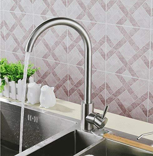 FXDCQC Antike Küche Spülbecken Edelstahl Wasserhahn Schüssel kaltes Wasser Waschbecken, die Schale Waschbecken Armaturen Home Kitchen Sink Mixer drehen