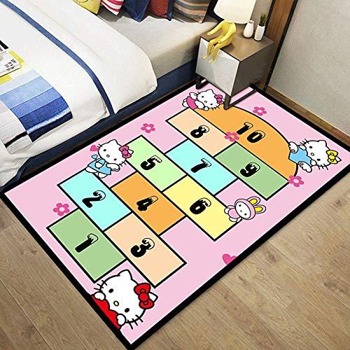 Meinianda Alfombra para niños de Dibujos Animados Rosa niña Linda Alfombra de Juego para bebés habitación de los niños Sala de Estar área Antideslizante Alfombra 200 * 300 cm