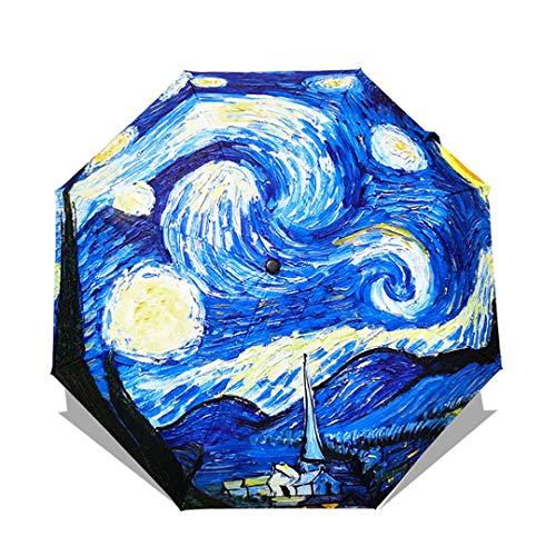 Mdsgfc paraguas plegable femenino chino arte paraguas lluvia mujeres a prueba de viento anti-UV parasol OUB05