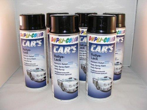 Dupli Color 385865 Car´s Rallye-Lack schwarz glänzend 6 Spraydosen á 400ml