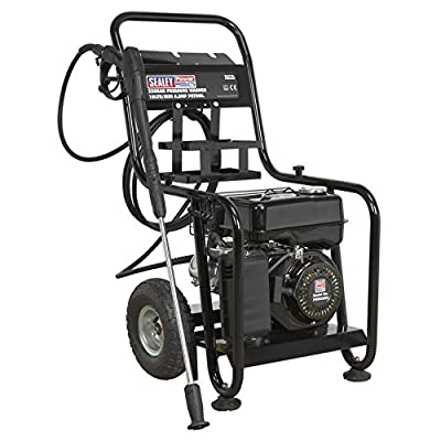 Sealey PWM2500 Pressure Washer, 220Bar, 10L/Min, 6.5Hp Petrol, Black by Sealey