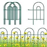"Gtongoko Decorative Garden Fence 24"" x 17"",Garden Barrier Portable Decorative Flower Fence,Animal Barrier,Border Garden Fence for Landscape,Trees,Flower Beds,Shrubs,Gardens,Green,Pack of 12"