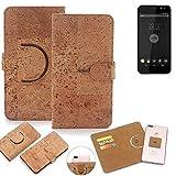 K-S-Trade® Schutz Hülle Für Shift Shift4 Handyhülle Kork Handy Tasche Korkhülle Schutzhülle Handytasche Wallet Case Walletcase Flip Cover Smartphone Handyhülle